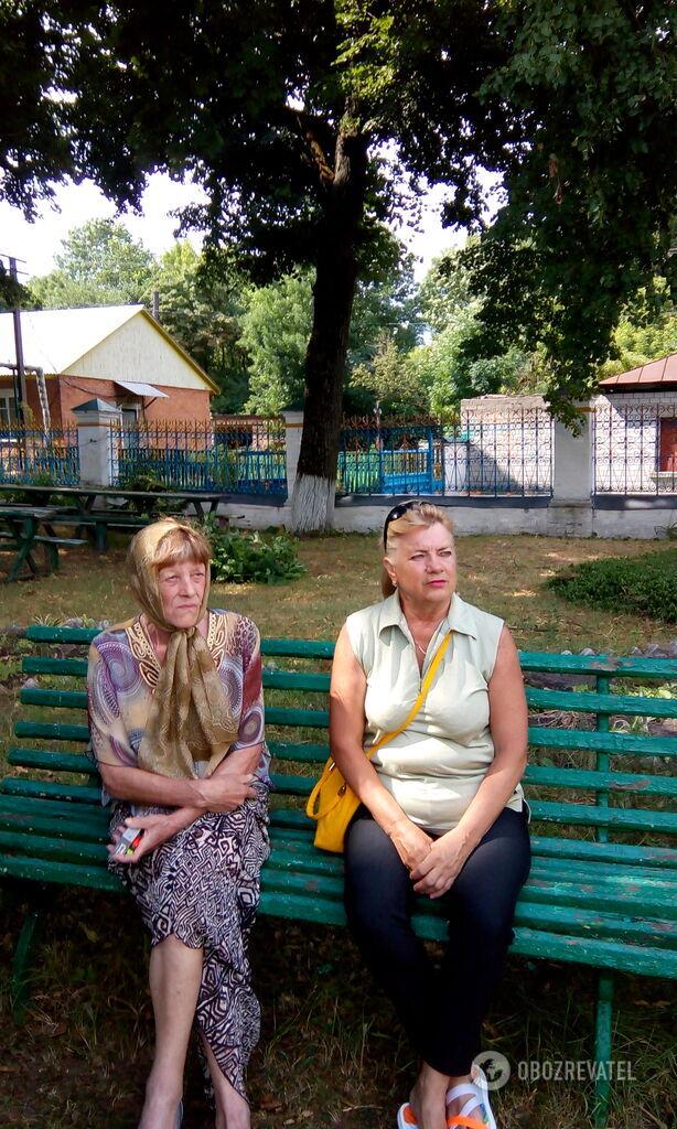 Місцеві жителі – Людмила Іванівна (праворуч) і Ольга