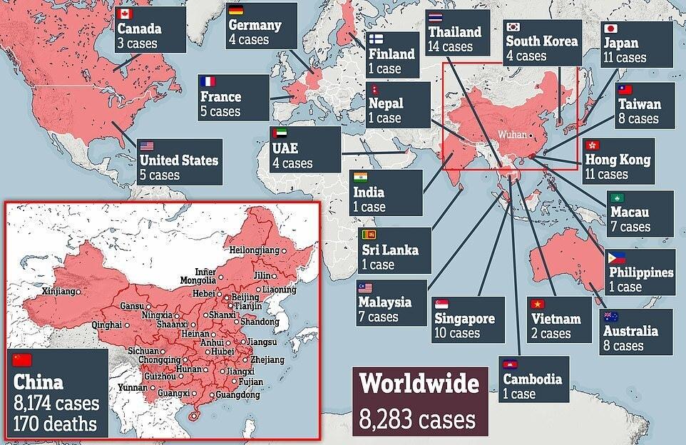 Померли 213 осіб, 9692 – заражені: ВООЗ оголосила спалах коронавірусу міжнародною НС